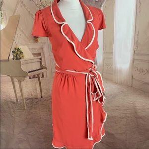 Mod Cloth orange wrap dress